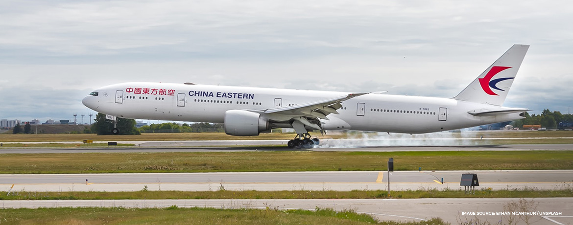 China Eastern business and first class seats