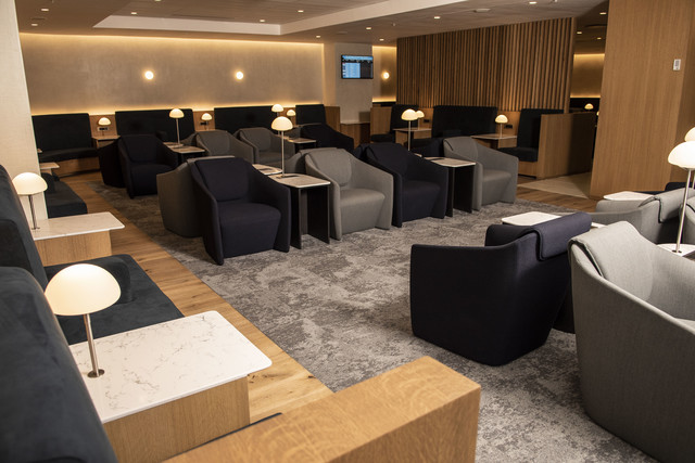 British Airways Johannesburg lounge seating