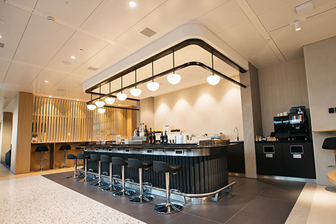 British Airways Geneva Lounge bar