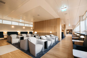 British Airways Geneva Lounge seating