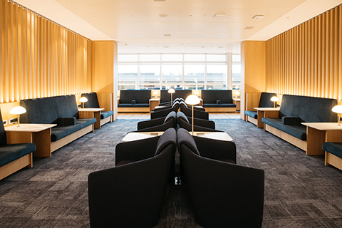British Airways Geneva Lounge seating area
