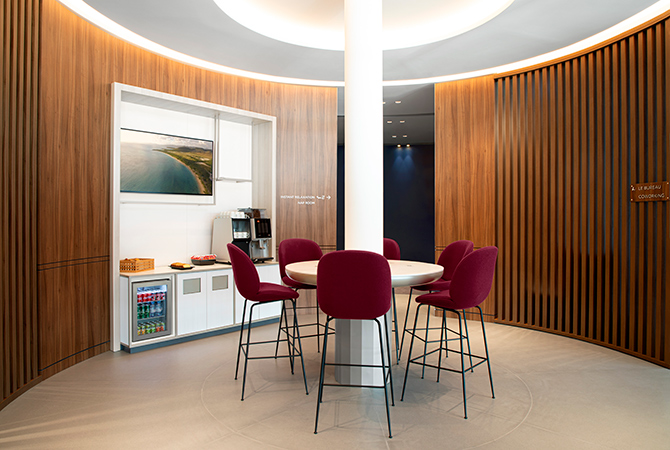 Air France Orly Lounge co-working space