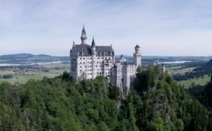 Most beautiful castle in Europe Neuschwanstein Castle in Schwangau Germany