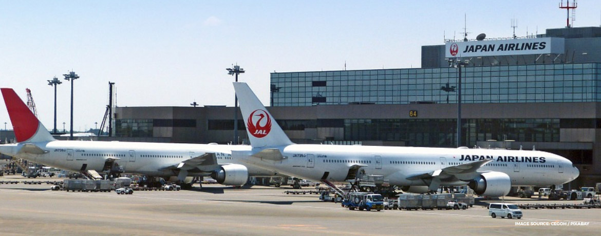 Japan Airlines first class Tokyo lounge