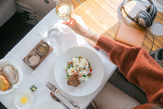 Cathay Pacific refreshed first class dining