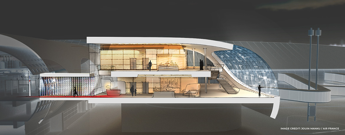 New Air France CDG lounge 2020